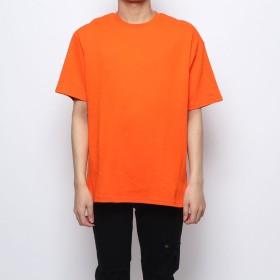 スタイルブロック STYLEBLOCK サイドZIP綿ポンチビッグTシャツ (オレンジ)