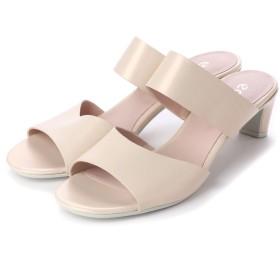 エコー ECCO SHAPE SLEEK SANDAL 45 Shoe (VANILLA METALLIC)