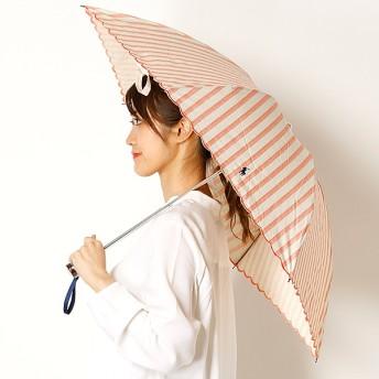 [マルイ]【セール】【折りたたみ日傘 3段折】【UV遮蔽率99%以上/遮熱】ストライプxスカラ刺繍 晴雨兼用/ポロ ラルフローレン(傘)POLO RALPH LAUREN(umbrella)