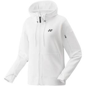 ヨネックス(YONEX) レディース テニス アウター スウェットパーカー ホワイト 39012 011 テニスウェア バドミントン 長袖 ジャケット プラクティス 練習着