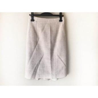 ピンキー&ダイアン Pinky&Dianne スカート サイズ38 M レディース ベージュ×アイボリー×白 ツイード/ラメ【中古】