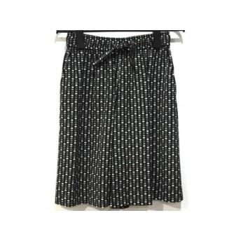 【中古】 ピッコーネ PICONE スカート サイズ38 S レディース 黒 白 ウエストゴム