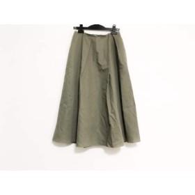 【中古】 ミラオーウェン Mila Owen スカート サイズ1 S レディース カーキ