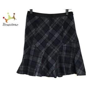 ジャスグリッティー JUSGLITTY スカート サイズ2 M レディース ネイビー×グレー×黒 チェック柄     スペシャル特価 20190803【人気】
