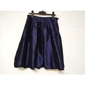 【中古】 アルマーニコレッツォーニ ARMANICOLLEZIONI スカート サイズ42 M レディース ネイビー