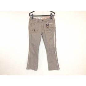 【中古】 ジーンナッソーズ パンツ サイズ2 M レディース ピンク イエロー マルチ ストライプ