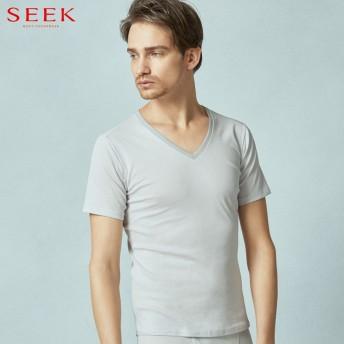 GUNZE グンゼ SEEK(シーク) 【汗取り付】VネックTシャツ(V首)(メンズ)【送料無料】 ホワイト M