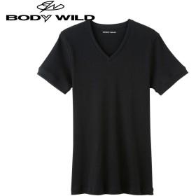 GUNZE グンゼ BODY WILD(ボディワイルド) VネックTシャツ(V首)(メンズ)【まとめ買い対象】 グレーモク L