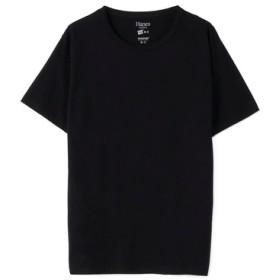 HANES クルーネックTシャツ メンズ ブラック