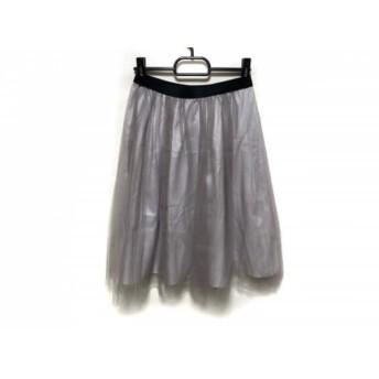 【中古】 アプワイザーリッシェ スカート サイズ1 S レディース ピンクベージュ 黒 チュール