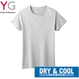 GUNZE グンゼ YG(ワイジー) 【DRY&COOL】クルーネックTシャツ(メンズ) グレー M