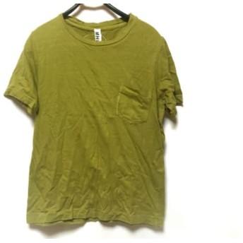 【中古】 マーガレットハウエル MHL. 半袖Tシャツ サイズM メンズ イエローグリーン