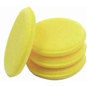 Lantee 洗車用ワックススポンジ、24個パック、黄色