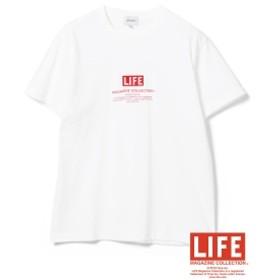 LIFE × BEAMS / 別注 ロゴ プリント Tシャツ メンズ Tシャツ WHITE S