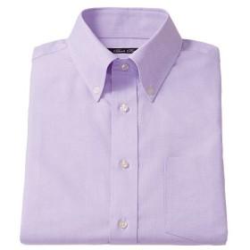 【メンズ】 形態安定ボタンダウンYシャツ(半袖) ■カラー:ラベンダー系 ■サイズ:M,L,LL,3L,5L,4L