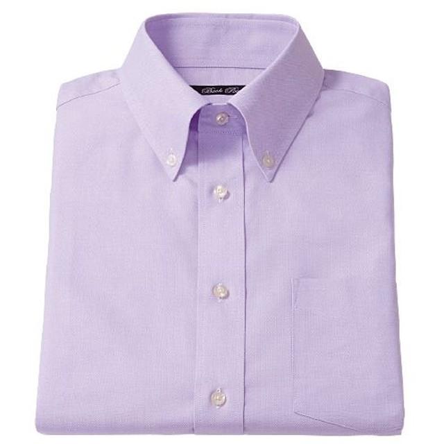 【メンズ】 形態安定ボタンダウンYシャツ(半袖) ■カラー:ラベンダー系 ■サイズ:L,3L,4L,LL,M,5L