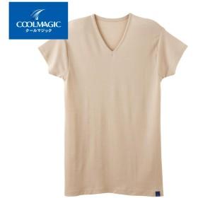 GUNZE グンゼ COOLMAGIC(クールマジック) 【カノコ素材】汗とり付VネックTシャツ(短袖)(V首)(メンズ)【SALE】 ホワイト L