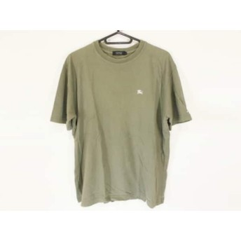 【中古】 バーバリーブラックレーベル Burberry Black Label 半袖Tシャツ サイズ3 L メンズ グレー
