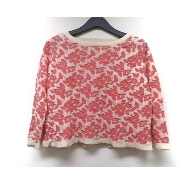 【中古】 オープニングセレモニー 長袖セーター サイズM レディース ピンク アイボリー 花柄