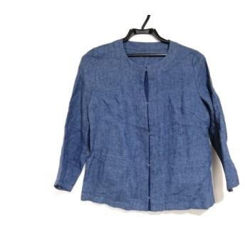 【中古】 シップス SHIPS ジャケット サイズ36 S レディース ブルー