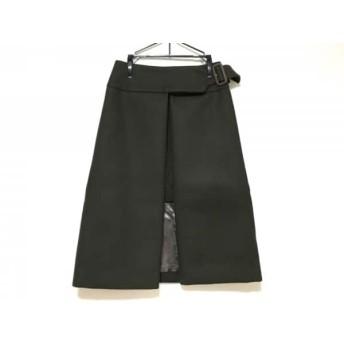 【中古】 サカイラック sacai luck 巻きスカート サイズ1 S レディース 美品 カーキ ロング丈