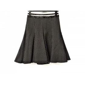【中古】 エンポリオアルマーニ EMPORIOARMANI スカート サイズ36 S レディース 黒 白 ドット柄