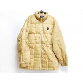 【中古】 マンシングウェア Munsingwear ダウンコート サイズL レディース ベージュ 冬物/チェック柄