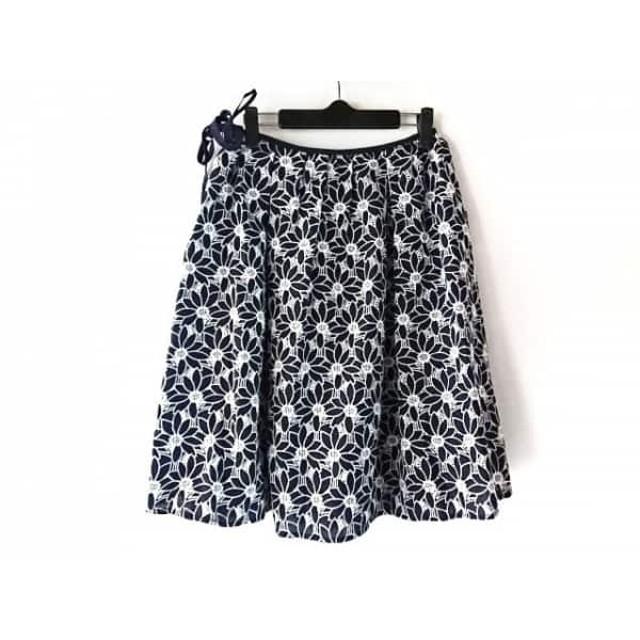 【中古】 ギャラリービスコンティ GALLERYVISCONTI スカート サイズ2 M レディース ネイビー 白