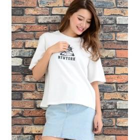 Janiss ジャニス 自由の女神プリント半袖Tシャツ