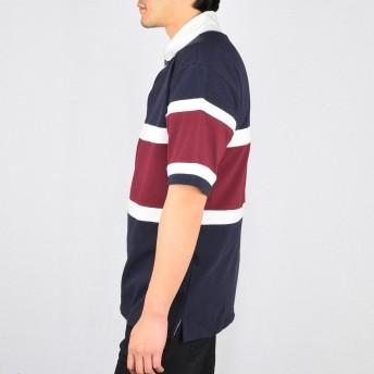 ポロシャツ - NEVEREND カノコ 切替え ラガーシャツ 9403-219