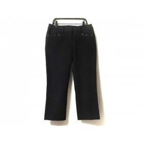 【中古】 エムズグレイシー M'S GRACY パンツ サイズ38 M レディース 美品 黒 七分丈