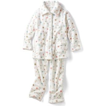 50%OFF【レディース】 あったか可愛いハイネックパジャマ(ふわもこ) - セシール ■カラー:オフホワイト ■サイズ:3L,LL
