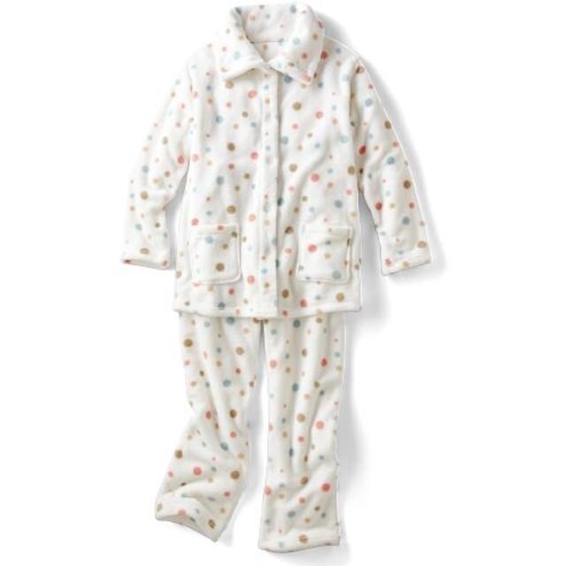 50%OFF【レディース】 あったか可愛いハイネックパジャマ(ふわもこ) - セシール ■カラー:オフホワイト ■サイズ:LL,3L