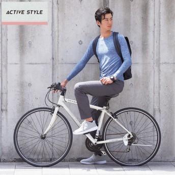 GUNZE グンゼ ACTIVE STYLE(アクティブ スタイル) ロングスリーブTシャツ(メンズ)【SALE】 ジーンズブルー M