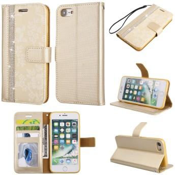iphone 8ケース アイフォン8ケース スマホケース スマホカバー 手帳型ケース ストラップ 横置きスタンド カード収納 マグネット PUレザー 柔軟性TPU 全面保護 耐衝撃 女性人気 おしゃれ