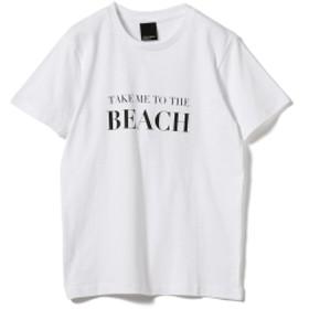 旅MUSE × BEAMS LIGHTS / BEACH Tシャツ レディース Tシャツ WHITE ONE SIZE