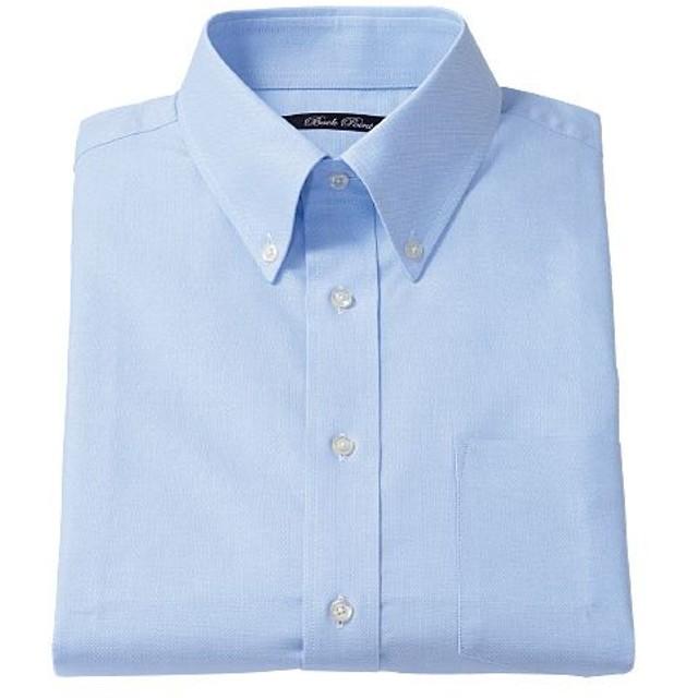 【メンズ】 形態安定ボタンダウンYシャツ(半袖) ■カラー:ブルー系 ■サイズ:LL,3L,5L,4L,L,M