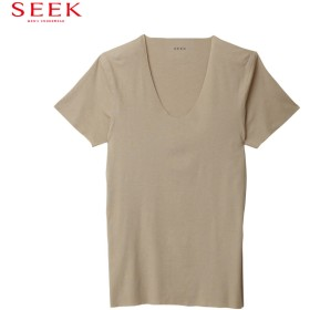 GUNZE グンゼ SEEK(シーク) UネックTシャツ(U首)(メンズ) ブラック L