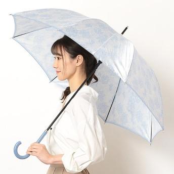 [マルイ]【セール】雨傘(ジャンプ傘)【ワンタッチオープン/グラス骨/耐風傘】レース花プリント(レディース)/refuge(ルフジュ)