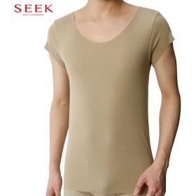 GUNZE グンゼ SEEK(シーク) 【プレミアムライン DRYFEEL】ボ-トネックTシャツ(メンズ) オフホワイト M