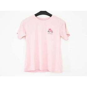 【中古】 モンベル mont-bell 半袖Tシャツ サイズL レディース ピンク フラワー