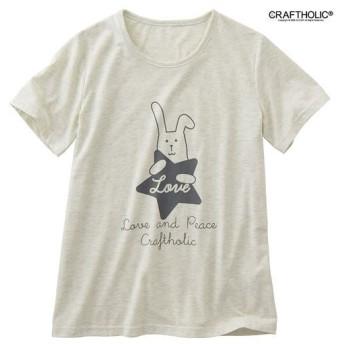【レディース】 シンプル半袖Tシャツ(CRAFTHOLIC) ■カラー:オートミール ■サイズ:M,LL,L