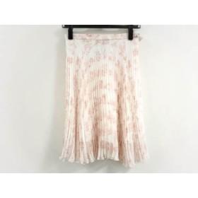 【中古】 ヴィヴィアンウエストウッドレッドレーベル スカート サイズ38 L レディース 白 レッド