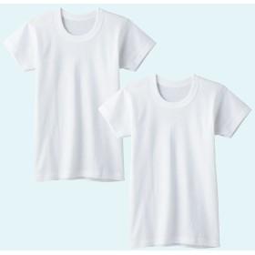 GUNZE グンゼ キッズ 半袖丸首(2枚組)(子供100-160cm)(男の子) ホワイト 160