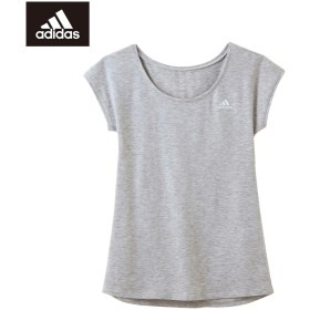 GUNZE グンゼ adidas(アディダス) フレンチスリ-ブ(レディース)【SALE】 グレーモク M