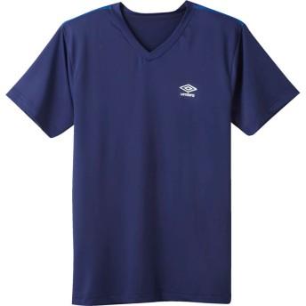 GUNZE グンゼ umbro(アンブロ) VネックTシャツ(V首)(メンズ) レッド L