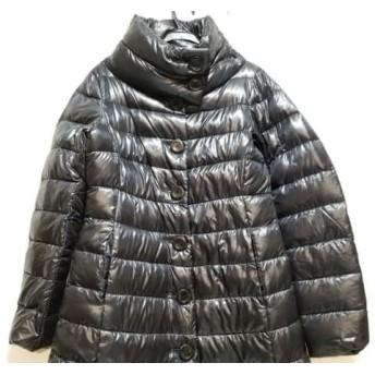 【中古】 ヘルノ HERNO ダウンコート サイズ40 M レディース 黒 冬物