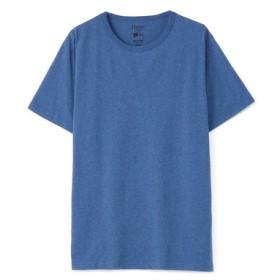HANES クルーネックTシャツ メンズ ブルー