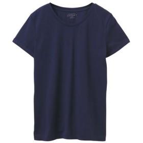 50%OFF【レディース】 クルーネックTシャツ(綿100%・半袖) ■カラー:ネイビー ■サイズ:S,L,LL,3L,M