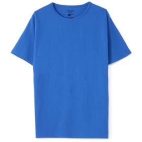 HANES クルーネックTシャツ メンズ ロイヤルブルー
